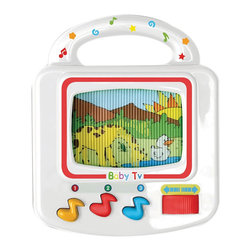 The Original Toy Company - The Original Toy Company Kids Children Play 1st Sound Baby TV - Baby TV with pre-recorded melodies and handle, included knob to scroll image on the TV. Battery Powered -2 AA incl. Age 6 months plus.
