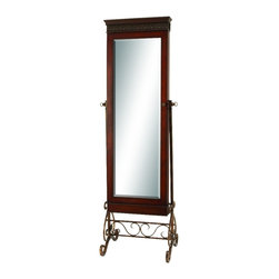 Woodland Imports - Stylish and Simple Wood Mirror Polished and Decorated in Style Home Decor - Stylish and simple inspired wood mirror polished and decorated in style living dining and family room home accent decor