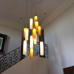 Project in Anaheim - Galilee Chandelier in Honey and White by Light in Art