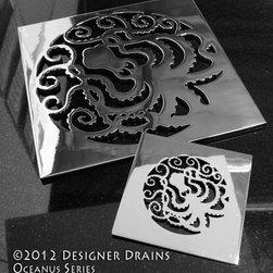 Designer Drains Oceanus Octopus - Designer Drains Oceanus Octopus, square drains