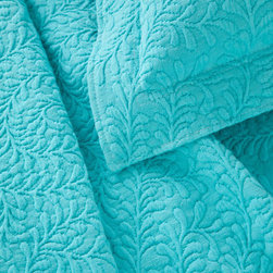 Pine Cone Hill - scramble matelasse coverlet (aqua) - Make a statement with intricately stitched branches that twine over this soft cotton matelasse coverlet.��This item comes in��aqua.��This item size is��various sizes.