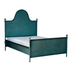 Francis Iron Bed - I can't get enough of this gorgeous color! Wouldn't this iron bed be beautiful paired with a Mexican Otomi coverlet? Wow.