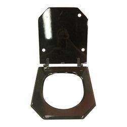 Burgess Cabinetry - Eljer Tosca Incepa Atrium Black Toilet Seat - Fits Eljer Tosca and Incepa Atrium Water Closet.  Custom molded wood composite seat with epoxy finish.