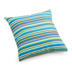 ZUO - Puppy Outdoor Pillow - Small - Striped in aqua, leaf green, purple and olive, the Puppy Pillow adds a bold splash of color to your poolside furniture. Water resistant, to withstand errant splashing. It may just become your favorite part of the yard. Comes in small or large.