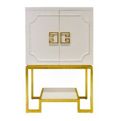 Worlds Away Anna Cabinet White Lacquer - Worlds Away Anna Cabinet White Lacquer.