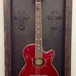 Guitar Display Cases / Shadow Boxes - Showcase your guitar in this gorgeous, handcrafted piece designed with an incredible amount of attention to detail.