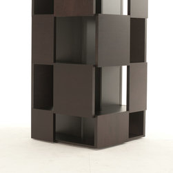 Temahome - Nest Shelving Unit - The nest rotative bookshelf is the living proof that bookcases can be interesting pieces of design furniture. Featuring plenty of storage, the nest uses irregular geometric patterns to create a visual effect that varies according to its content.