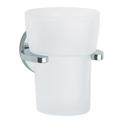 Loft Collection Wall-Mount Tumbler Holder - The Loft Collection Wall-Mount Tumbler Holder is perfect for guest bathrooms or master suites alike. Pair with a wall mount soap or lotion dispenser to keep clutter of your counters.