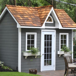 Copper Creek Garden Shed by Summerwood - This Copper Creek is a dream come true for any owner who loves his backyard.