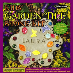 Milestones Kids' Garden Tile Kit - My oldest has made one of these before, but not my youngest. I'd love to let her have a turn at making a garden tile for the backyard. It's a great way to add a personalized touch to your outdoor space.