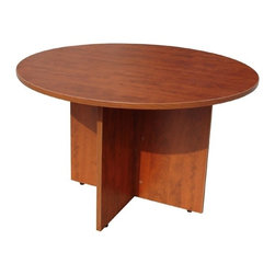 BossChair - Boss 47 Round Table, Cherry - This 47 round table can be used in many applications. The high pressure laminate is showcased with a 3mm edge banding. The Cherry laminate is durable yet attractive