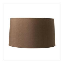 "15"" diameter chocolate silk shade - 15"" diameter chocolate silk shade."
