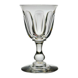 Lavish Shoestring - Consigned Port, Sherry or Cordial Glass w/ Faceted Bowl on Knob Foot, English, 1 - This is a vintage one-of-a-kind item.