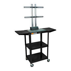 """Luxor - Luxor Flat Panel Cart - AVJ42DL-LCD - The Luxor AVJ42-LCD series are excellent multipurpose AV/utility carts. This unit comes with a LCD mount that holds up to a 42"""" flat panel display"""