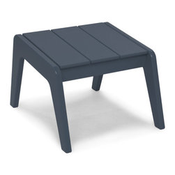 Loll Designs - No. 9 Ottoman, Charcoal Grey - Designed by T.J. Thomas and Audra Bielskus of Studio Murmur for Loll. The No.9 Collection is made from 100% post-consumer waste and manufactured by Loll in Duluth, Minn. The No. 9 stays out all night and is up early to greet you for morning coffee or afternoon lollygagging. Ships flat and assembly is a piece of cake. Pairs with No. 9 Lounge Chair.
