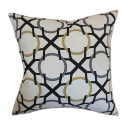The Pillow Collection Lacbiche Geometric Pillow - If you like to define your style in bold statements, The Pillow Collection Lacbiche Geometric Pillow will fit in perfectly with your aesthetic. Made of 100% high-quality cotton, this stunning square pillow features a plush 95/5 feather/down insert for a soft feeling. The neutral yet vibrant color palette is the perfect highlight to the beautiful geometric pattern, giving a contemporary charm to your home.About The Pillow CollectionIdentical twin brothers Adam and Kyle started The Pillow Collection with a simple objective. They wanted to create an extensive selection of beautiful and affordable throw pillows. Their father is a renowned interior designer and they developed a deep appreciation of style from him. They hand select all fabrics to find the perfect cottons, linens, damasks, and silks in a variety of colors, patterns, and designs. Standard features include hidden full-length zippers and luxurious high polyester fiber or down blended inserts. At The Pillow Collection, they know that a throw pillow makes a room.