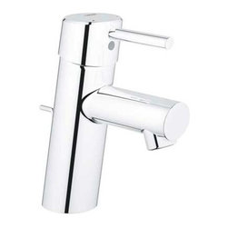 Grohe 34 270 Bathroom Faucet Single Handle Single Hole with SilkMove Cartridge - - Exploiting the beauty of the cylindrical form, the Concetto collection reflects the core values of Cosmopolitan design, resulting in a precisely executed meeting of lines, angles and curves that combine superior ergonomics with a modern aesthetic.