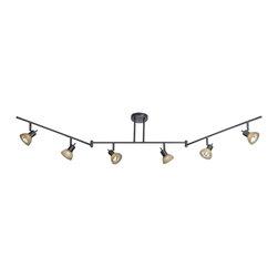 Vaxcel - Vaxcel SP53566DB 6-Light Swing Track Bar Dark Bronze - Vaxcel SP53566DB 6-Light Swing Track Bar Dark Bronze