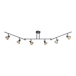 Vaxcel - Vaxcel SP53566DB 6-Light Swing Track Bar Dark Bronze - Vaxcel SP53566DB 6-Light Swing Track Bar Dark Bronze