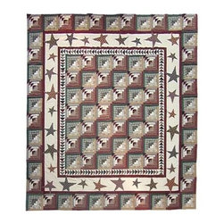 Patch Magic - Woodland Star And Geese Quilt (Luxury King) - Choose Size: Luxury King. Handmade Quilt. 100% Cotton. Machine washable. Cold Water, Hand Washing Preferred. DO NOT machine dry. DO NOT Dry Clean. Twin: 65 in. W x 85 in. L. Queen: 85 in. W x 95 in. L. King: 105 in. w x 95 in. L. Luxury King: 120 in. W x 106 in. L