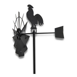 n/a - Black Metal Rooster Windmill Obelisk Garden Accent 72 In. - This decorative windmill obelisk adds a beautiful accent to your garden or flower bed. Made of metal, it measures 72 inches tall with the windmill accent measuring 20 inches long. Each side of the obelisk contains decorative vines and leaves for an eye catching accent you will love season after season.