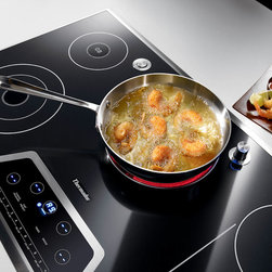 "Thermador Masterpiece Series Electric Cooktop - 36"" Masterpiece Series Electric Cooktop with Touch Control and Bridge Element CET366FS"