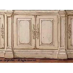 """Habersham - Habersham Trouville 98 x 20 Sideboard - It all started in the small North Georgia town of Clarkesville. It was 1969 and Habersham founder Joyce Eddy had just been given the chance to operate a small antique shop located above an old laundromat. This was just the opportunity a woman of Joyce's vision and energy would turn into the perfect blend of utility artistry and soul. Looking for ways to make her antique business more profitable she began crafting small decorative purses from vintage wooden cigar boxes. They were totally unique and they were an instant hit. Joyce named her new venture Habersham Plantation after Georgia's Habersham County and the plantations for which the area was known. The ideas just kept coming. One day Joyce was driving by a local textile company and spotted a large pile of old discarded wooden spools. Those spools were soon crafted into candleholders towel racks and folk art items. With the help of her sons and other family members Joyce expanded Habersham's offerings to include handcrafted furniture reflecting the American Country designs of the early 17th and 18th centuries. As word spread and production demands grew Joyce enlisted the help of woodworkers from her North Georgia region. This area had been a center for cabinetmaking since the early 1800s and the master craftsmen were well-schooled in the time-tested woodworking and joinery techniques that matched Joyce's sense of style and function. She even designed her factory to work just as the 18th century cabinetmakers did with individual artisans hand-finishing signing and dating each piece of furniture they crafted. Today Habersham still leads the way in the fine art of furniture design. So much so that in addition to their product line a new """"whole home"""" concept is finding its way into some of the finest dwellings in the country. Custom kitchen bath and other cabinetry designs offer rich opulent finishes and blend seamlessly with rooms of casual elegance all enhancing t"""