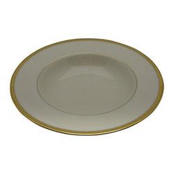 Lenox - Lenox Tuxedo (Gold Backstamp) Rim Soup Bowl - Lenox Tuxedo (Gold Backstamp) Rim Soup Bowl