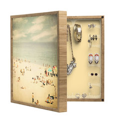 DENY Designs - Shannon Clark Vintage Beach BlingBox - Handcrafted from 100% sustainable, eco-friendly flat grain Amber Bamboo, DENY Designs BlingBox Petite measures approximately 15 x 15 x 3 and has an exterior matte cover showcasing the artwork of your choice, with a coordinating matte color on the interior. Additionally, the BlingBox Petite includes interior built-in clear, acrylic hooks that hold over 120 pieces of jewelry! Doubling as both art and an organized hanging jewelry box, It's bound to be the most functional (and most talked about) piece of wall art in your home! Custom made in the USA for every order.