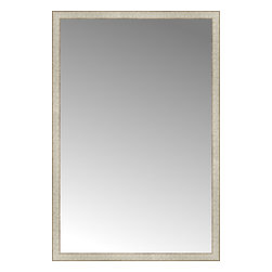 "Posters 2 Prints, LLC - 39"" x 58"" Libretto Antique Silver Custom Framed Mirror - 39"" x 58"" Custom Framed Mirror made by Posters 2 Prints. Standard glass with unrivaled selection of crafted mirror frames.  Protected with category II safety backing to keep glass fragments together should the mirror be accidentally broken.  Safe arrival guaranteed.  Made in the United States of America"