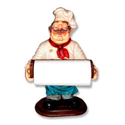 "Chef Statue Tissue Holder, 25.5""H -"
