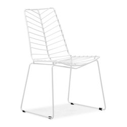 Zuo Modern - Zuo Modern Wendover Dining Chair White - Set of 2 - The Wendover dining chair takes its inspiration from the elegant shape of a leaf. The chair looks clean and strong at the same time. The frame is solid steel for durability. Cushion sold separately.