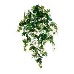 Silk Plants Direct - Silk Plants Direct Ivy and Eucalyptus Hanging Bush (Pack of 6) - Silk Plants Direct specializes in manufacturing, design and supply of the most life-like, premium quality artificial plants, trees, flowers, arrangements, topiaries and containers for home, office and commercial use. Our Ivy and Eucalyptus Hanging Bush includes the following: