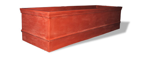 Amedeo Design, LLC - USA - Rolled Rim Framed Planter - Our Rolled Rim Framed Planter is a fine traditional piece. As one of our best sellers, its extremely sturdy and versatile. This handsome planter can also be custom designed to your needs for your home, rooftop terrace or commercial application. Though they look like designs in carved stone, our products are made of lightweight weatherproof ResinStone. So authentic, you actually have to lift these planters to convince yourself they're not stone at all! Made in USA.