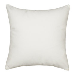 "Blooming Home Decor - Solid White Accent / Throw Pillow Cover - (Available in 16""x16"""", 20""x20"", 24""x24"", 26""x26"")"