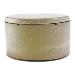 Culinarium - Mini Cellar, Gray - All of our items are one of a kind.  Each cellar is cast in a hand made mold for about a week. Each is then hand burnished with three coats of our own FDA approved sealer.