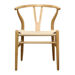 Wholesale Interiors - Baxton Studio Claus Contemporary Wooden Chair in Natural - Set of 2 - Set of 2