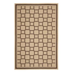 """Martha Stewart Living - Martha Stewart Indoor/Outdoor Area Rug: Resort Weave Cream/Chocolate 8' x 11' 2"""" - Shop for Flooring at The Home Depot. Resort Weave s oversized chain stitch conjures the light and breezy decor found in seaside vacation getaways. Machine-woven in Turkey of 100-percent enhanced polypropylene, this easy-care rug features exceptional UV protection and mildew- and mold-resistance."""