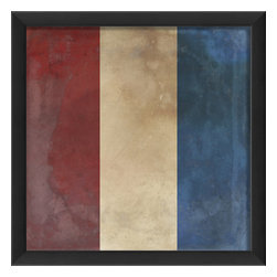 """The Artwork Factory - """"Signal Flag T"""" Print - Here's your signal to add some vintage nautical artwork to your interior decor. In the maritime alphabet, T stands for """"Tango"""" and means: Keep clear. But here, it signifies your good taste in wall hangings — especially one that utilizes a 12-color pigment ink."""