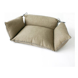Dransfield and Ross - Lounge Dog Bed | Natural - Lounge Dog Bed | Sangria