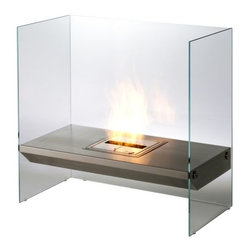 EcoSmart Fire - Igloo Fireplace by EcoSmart Fire - The cool way to warm up contemporary interiors. The distinctive design of the EcoSmart Fire Igloo Fireplace includes a bioethanol burner in a brushed stainless steel shelf that appears to be floating in mid-air. This is due to the crystal clear toughened glass surround, which both fades into the background and reflects the dancing flame. EcoSmart Fire is the award-winning, high-end brand of The Fire Company, based near Sydney, Australia. Launched in 2004, EcoSmart Fire has revolutionized the fireplace industry with its stylish contemporary designs and the use of clean-burning, eco-friendly bioethanol. This ground-breaking fuel and design versatility mean that EcoSmart Fire fireplaces, inserts, burners and accessories now heat and visually enhance indoor and outdoor spaces in more than fifty countries worldwide.