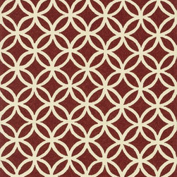 """Loloi Rugs - Loloi Rugs Venice Beach Collection - Red/Ivory, 9'-3"""" x 13' - The Venice Beach Collection brightens up your home - inside or out - with a series of appealing, modern, hand-hooked designs from China. Made of 100-percent polypropylene, the rugs are UV and mildew-resistant."""