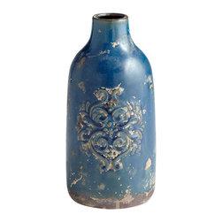 Cyan Design - Garden Grove Vase - Small - Small garden grove vase - blue glaze