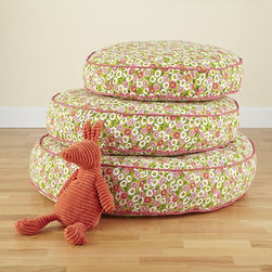 Floral Stack Floor Cushion - Toss a few of these flowered floor cushions around to welcome spring and to give your little ones a soft spot to sit.