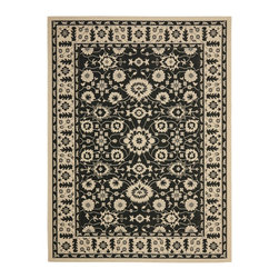 """Safavieh - Courtyard Brown/Black Area Rug CY6126-16 - 2'7"""" x 5' - Safavieh takes classic beauty outside of the home with the launch of their Courtyard Collection. Made in Belgium with enhanced polypropylene for extra durability, these rugs are suitable for anywhere inside or outside of the house. To achieve more intricate and elaborate details in the designs, Safavieh used a specially-developed sisal weave."""