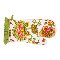 BrandWave - Ethel, Mit - This adorable oven mitt is covered in florals. Protect your hands from the heat while still looking fashionable in this chic and stylish oven mitt.