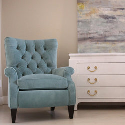 Tufted Recliner - Sophia Tufted Recliner looks sophisticated enough for a formal room but is comfortable enough to take a nap
