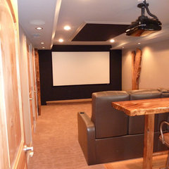 modern media room by Dave Kupec