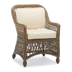 Hampton Set of Two Dining Outdoor Arm Chairs with Cushions - Frontgate, Patio Fu