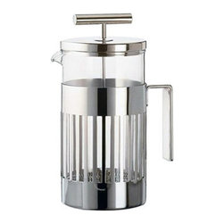 "Alessi - Alessi Coffee Press - You'll be inspired to get up out of bed, knowing a pot of freshly pressed coffee is in your near future. This stunning coffee press, with its gleaming T-shaped plunger and easy-grip handle, makes for a worthwhile ""rise and shine."""